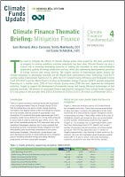 Climate finance thematic briefing – Mitigation finance