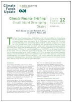 Climate Finance Regional Briefing: Small Island Developing States